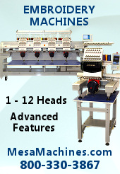 Embroidery Machines from MESA Distributors