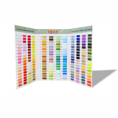 Vista Thread Chart vista, thread, chart, card, sample, thread chart, thread card, thread sample