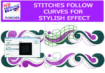 Wings XP Puncher software- Perfect curved stitches