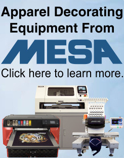 Apparel Decorating Equipment from MESA