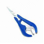 Thread nippers (straight blade) with convenient lanyard.