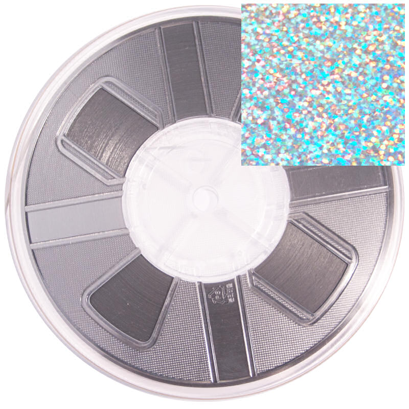 7mm Hotfix Spangle Tape Silver Hologram