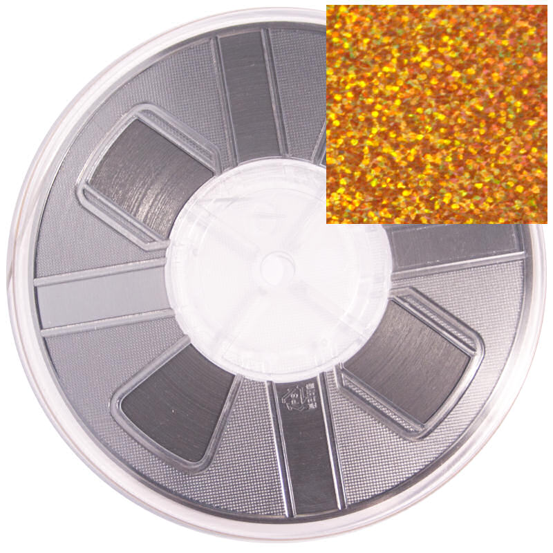 5mm Hotfix Spangle Tape Gold Hologram