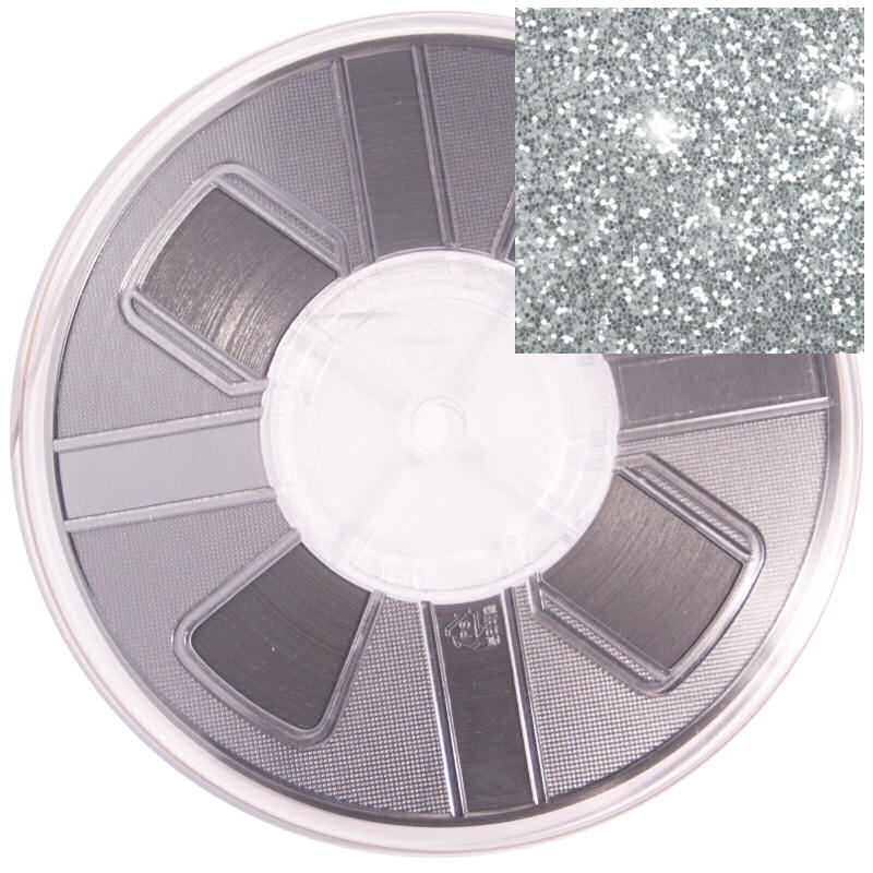 3mm Hotfix Spangle Tape Silver Glitter